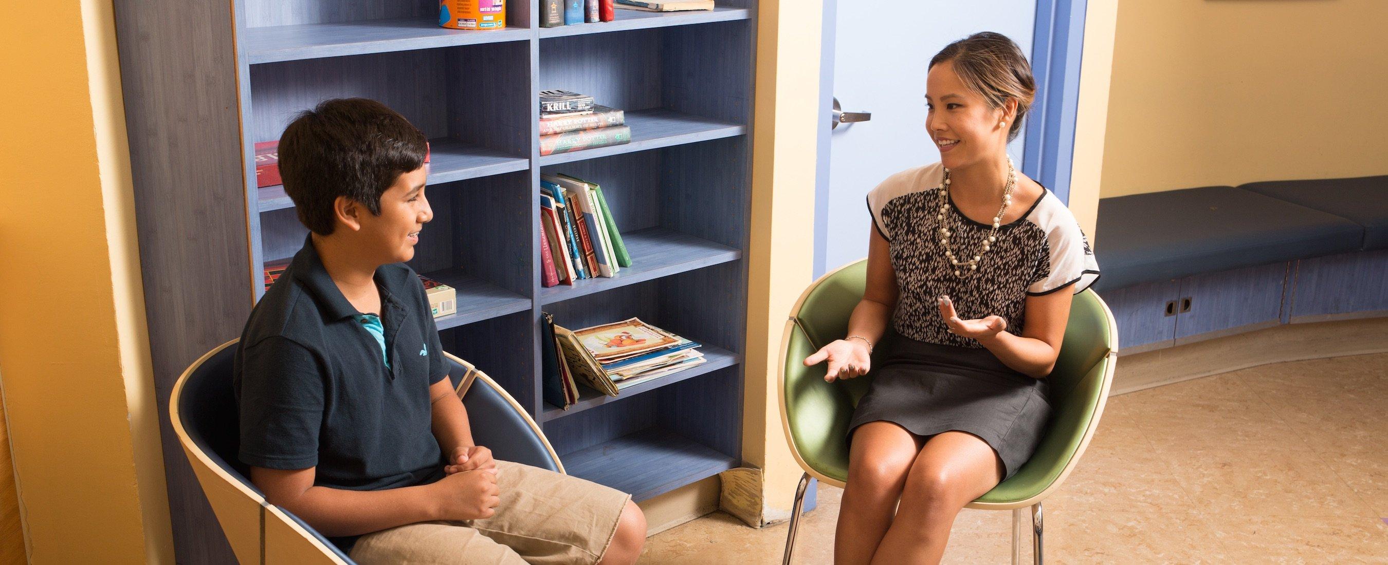 Dr. Cindy Lim-Fibel and boy